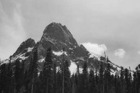 Mountain peak in the Cascades near Leavenworth, Washington 写真素材