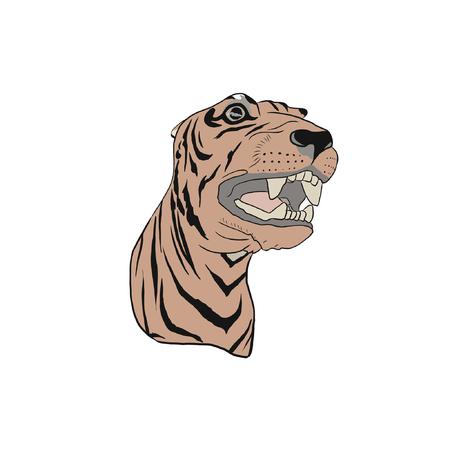 Carousel Tiger Vector Иллюстрация