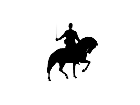 medieval knight: Purpose Isolated Medieval Knight (Illustration) Stock Photo