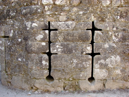 loopholes: Medieval wall showing gaps in loopholes