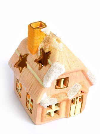 Christmas Decoration House, candle,