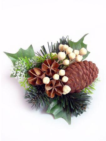 CHRISTMAS WREATH, white background Stock Photo