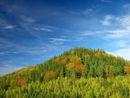 autumn summer hill Landscape, colourful Stock Photo - 373010