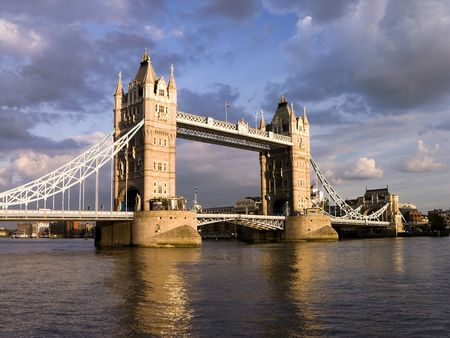 London Tower Bridge by cloudy day