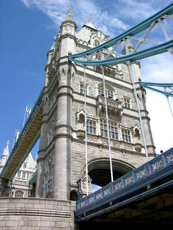 London Tower Bridge by day Stock Photo