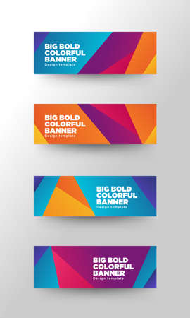 color paper: Big Colorful Banner Illustration