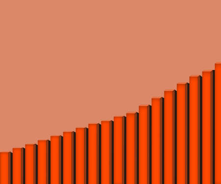 orange stairs side view . Simple illustration up to the top stair