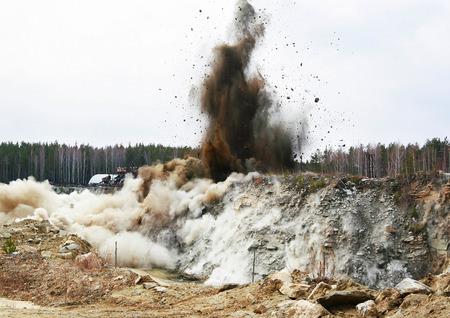 blasting: Big quarry blasting