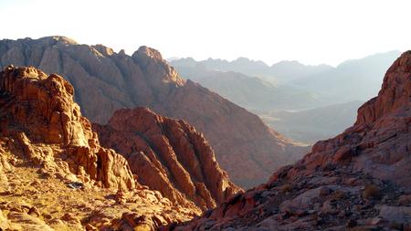sinai: Egypt, Sinai, Mount Moses, panorama rocks Stock Photo