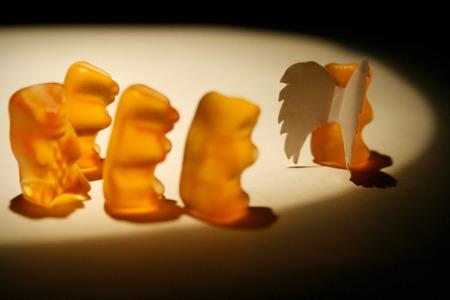 gummy: Sadness gummy bears Stock Photo