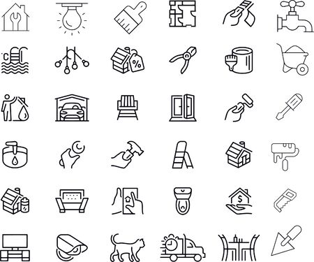 Home Repair icons vector design Vecteurs