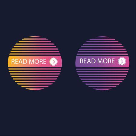 read more button vector design