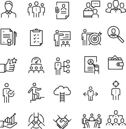 Human Resources and Recruitment vector design