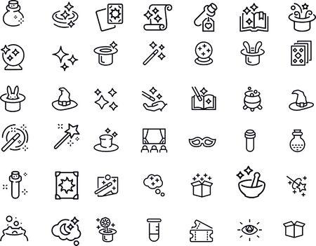 Magic icons set vector design