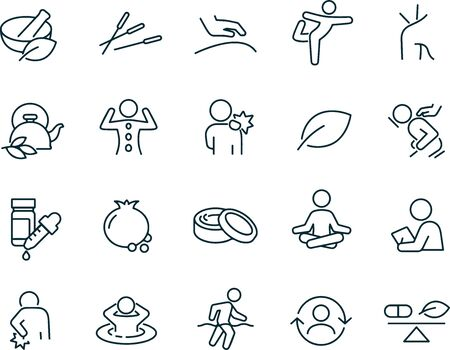 Alternative Medicine icons vector design