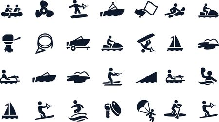 boating icons vector design Standard-Bild - 146137901