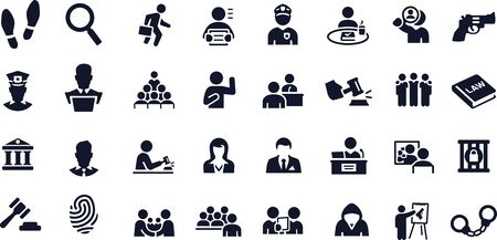 Courtroom Icons vector design