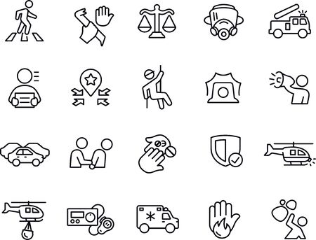 Emergency Services icons vector design