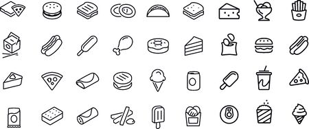 Fast Food Icons vector design