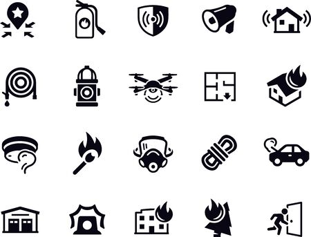 Firefighting Icons vector design