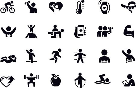 Fitness Icons vector design