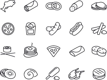 Food Thin Line Icons vector design Illustration