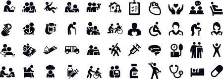 Geriatrics Icons vector design