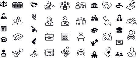 Law, Crime and Justice Icons Ilustração