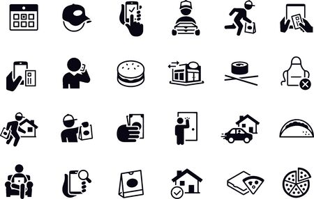 Restaurant Delivery Icons vector design Illustration