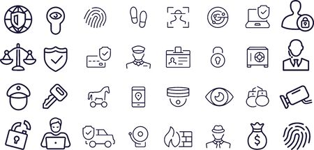 Security Icons vector design
