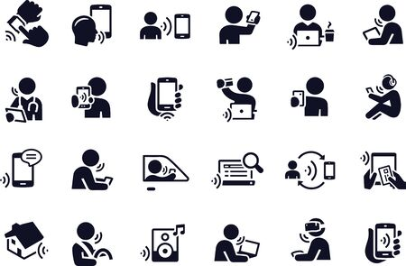 Voice Recognition icons vector design