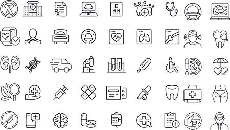 Healthcare Line Icons vector design Illustration