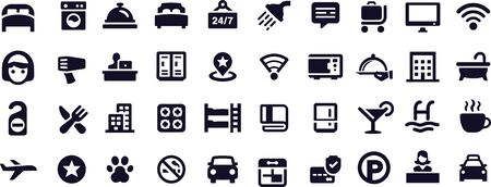 Hotel Icons vector design