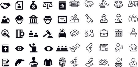 Law and Justice Icons vector design