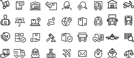 Logistics and Shipping Icons vector design