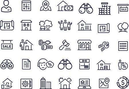 Mortgage Icons vector design