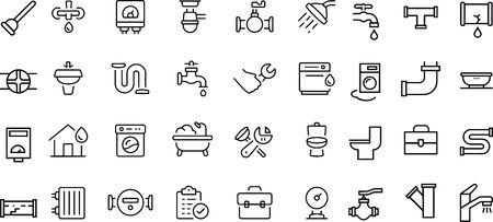 Conception de vecteur d'icônes de plomberie