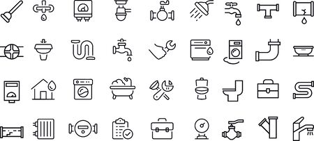 Plumbing Icons vector design