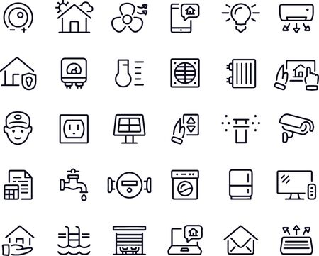 Smart Home Icons vector design