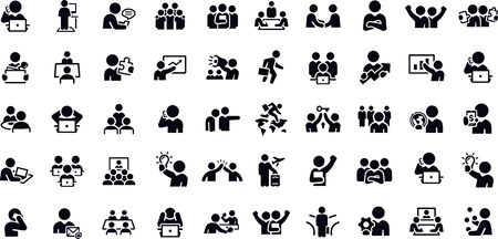 Working Office and Business People icons