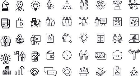 Business Line Icons vector design