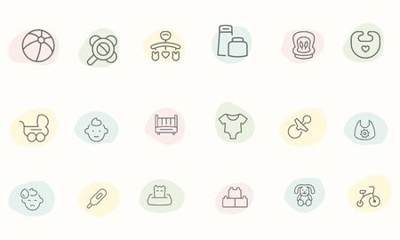baby icons vector design