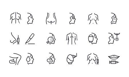 Cosmetology icon set vector design