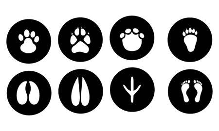 Footprints icon set vector design Stock Illustratie