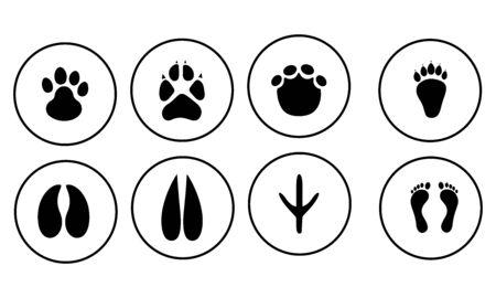 Footprints icon set vector design Illustration