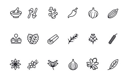 Herbs and spices icons