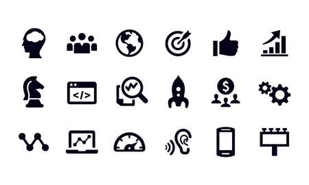 Marketing Icons vector design