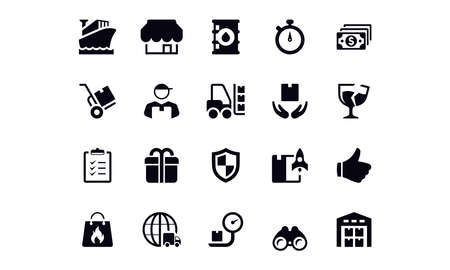 Delivery Icons vector design Illustration