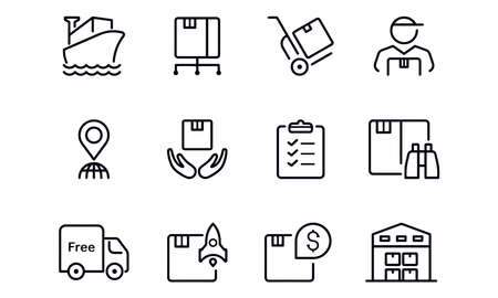 Logistic icons vector design
