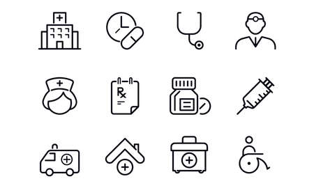 Medical icons vector design